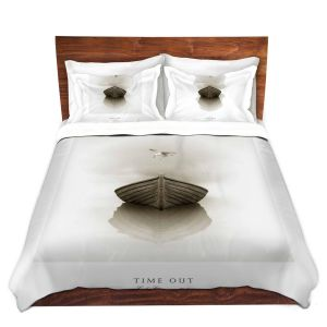 Artistic Duvet Covers and Shams Bedding   Carlos Casamayor - Time Out I Boat