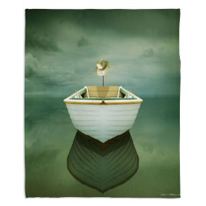 Decorative Fleece Throw Blankets | Carlos Casamayor - Time Out XIV Boat