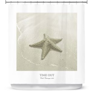 Unique Shower Curtain XL 69w x 90h inches from DiaNoche Designs by Carlos Casamayor - Time Out VIII Starfish