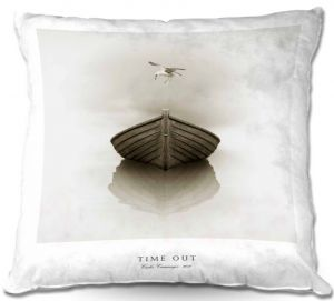 Throw Pillows Decorative Artistic | Carlos Casamayor - Time Out I Boat