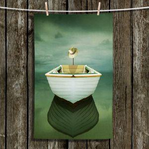 Unique Hanging Tea Towels | Carlos Casamayor - Time Out XIV Boat | Boats Hat Ocean