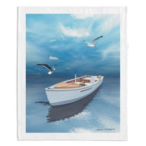 Decorative Fleece Throw Blankets | Carlos Casomeyer - Blue Dream III