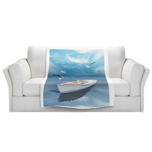 Artistic Sherpa Pile Blankets | Carlos Casomeyer - Blue Dream III