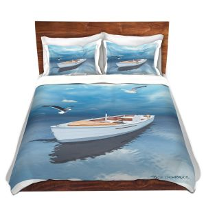Artistic Duvet Covers and Shams Bedding | Carlos Casomeyer - Blue Dream III