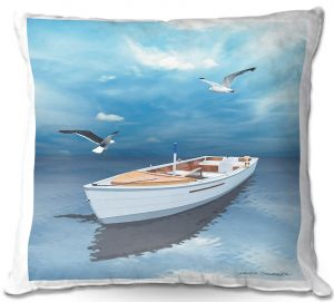 Decorative Outdoor Patio Pillow Cushion | Carlos Casomeyer - Blue Dream III