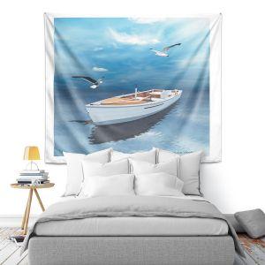 Artistic Wall Tapestry | Carlos Casomeyer - Blue Dream III