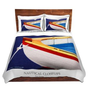 Artistic Duvet Covers and Shams Bedding | Carlos Casomeyer - Nautical Closeup XIV