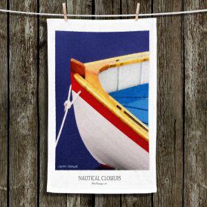 Unique Hanging Tea Towels | Carlos Casamayor - Nautical Closeup XIV | Boat