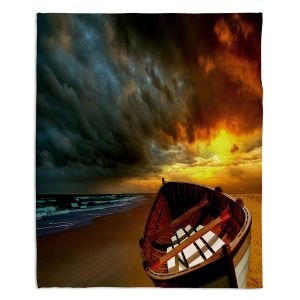 Decorative Fleece Throw Blankets | Carlos Casomeyer - Soft Sunrise On The Beach IX
