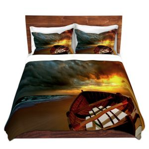 Artistic Duvet Covers and Shams Bedding | Carlos Casomeyer - Soft Sunrise On The Beach IX