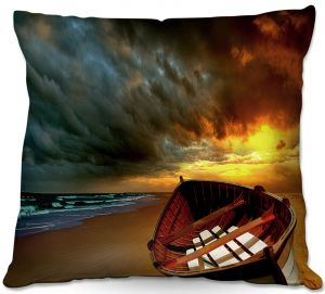 Decorative Outdoor Patio Pillow Cushion | Carlos Casomeyer - Soft Sunrise On The Beach IX