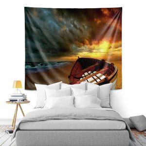 Artistic Wall Tapestry | Carlos Casomeyer - Soft Sunrise On The Beach IX