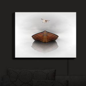 Nightlight Sconce Canvas Light | Carlos Casamayor - Time Stopped I | Birds Boat