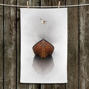 Unique Hanging Tea Towels | Carlos Casamayor - Time Stopped I | Birds Boat