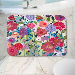 Decorative Bathroom Mats | Carrie Schmitt - Adventures On The Garden Path | Flower Pattern
