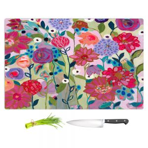 Artistic Kitchen Bar Cutting Boards | Carrie Schmitt - Adventures On The Garden Path | Flower Pattern