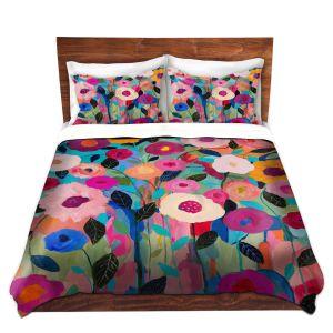 Artistic Duvet Covers and Shams Bedding | Carrie Schmitt - Autumn Splendor Flowers