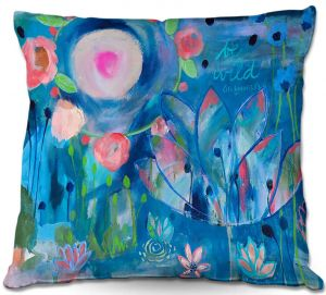 Decorative Outdoor Patio Pillow Cushion | Carrie Schmitt - Be Wild Flowers