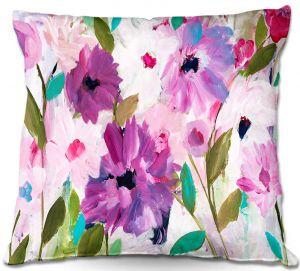 Decorative Outdoor Patio Pillow Cushion   Carrie Schmitt - Blossoming Flowers