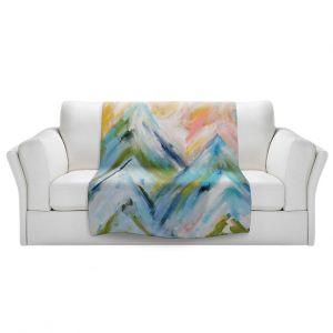 Artistic Sherpa Pile Blankets | Carrie Schmitt - Colorado Bluebird Sky