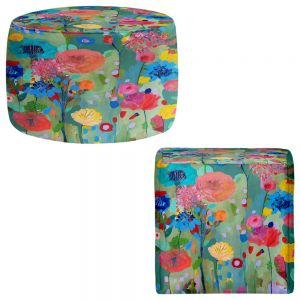 Round and Square Ottoman Foot Stools | Carrie Schmitt - Dreamscape