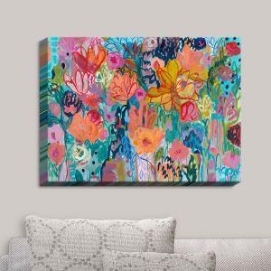Decorative Canvas Wall Art | Carrie Schmitt - Exhalation | Abstract Flowers