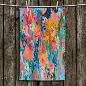 Unique Hanging Tea Towels | Carrie Schmitt - Exhalation | Abstract Flowers