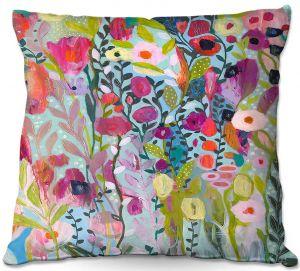 Decorative Outdoor Patio Pillow Cushion | Carrie Schmitt - Flow in the Divine | Flower Pattern