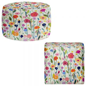 Round and Square Ottoman Foot Stools | Carrie Schmitt - Gentle Soul Flowers