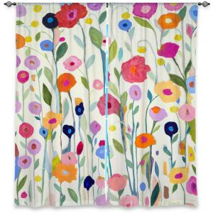 Unique Window Curtains Unlined 40w x 52h from DiaNoche Designs by Carrie Schmitt - Gentle Soul Flowers
