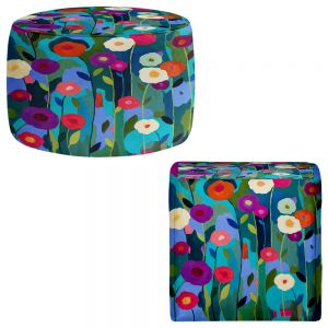 Round and Square Ottoman Foot Stools | Carrie Schmitt - Good Morning Sunshine Flowers
