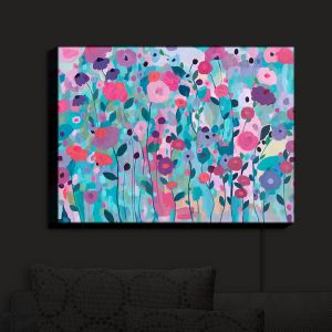 Nightlight Sconce Canvas Light | Carrie Schmitt - Joy Unleash Flowers