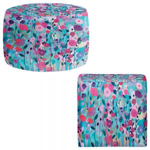 Round and Square Ottoman Foot Stools | Carrie Schmitt - Joy Unleash Flowers
