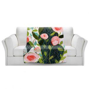 Artistic Sherpa Pile Blankets | Carrie Schmitt - Julies Faith | Flower Pattern