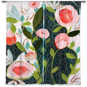Decorative Window Treatments | Carrie Schmitt - Julies Faith | Flower Pattern