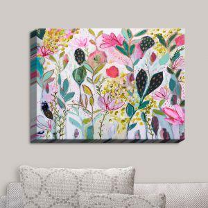 Decorative Canvas Wall Art | Carrie Schmitt - Meadow | Abstract Flowers
