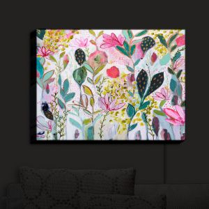 Nightlight Sconce Canvas Light | Carrie Schmitt - Meadow | Abstract Flowers