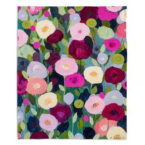 Artistic Sherpa Pile Blankets | Carrie Schmitt - Night Garden | Flower Pattern