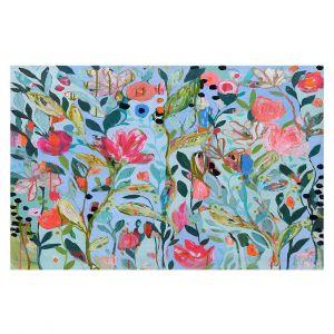 Decorative Floor Coverings | Carrie Schmitt - On Not In | Flower Pattern