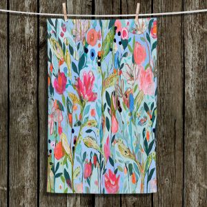 Unique Hanging Tea Towels | Carrie Schmitt - On Not In | Flower Pattern