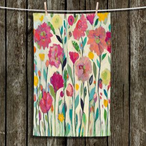 Unique Hanging Tea Towels | Carrie Schmitt - She Lived In Full Bloom | Abstract Flowers
