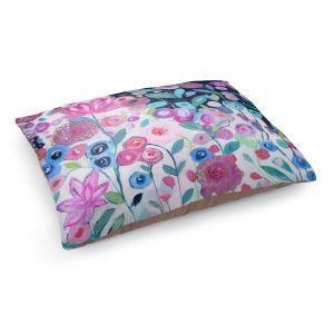 Decorative Dog Pet Beds | Carrie Schmitt - Solstice | Flower Pattern