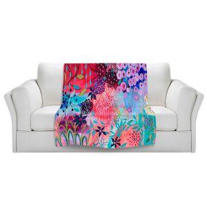 Artistic Sherpa Pile Blankets | Carrie Schmitt Spirit Garden