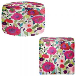 Round and Square Ottoman Foot Stools | Carrie Schmitt - Spirit Weaver Flowers