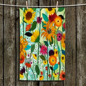 Unique Hanging Tea Towels | Carrie Schmitt - Sunflower House | Flowers