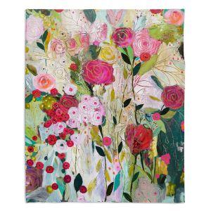 Artistic Sherpa Pile Blankets | Carrie Schmitt - Wild Rose