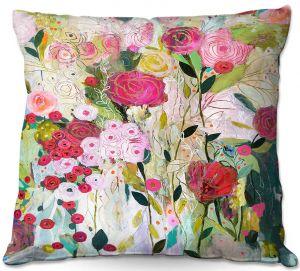 Decorative Outdoor Patio Pillow Cushion   Carrie Schmitt - Wild Rose