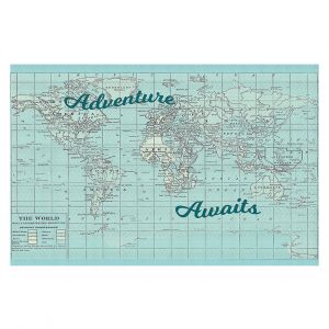 Decorative Floor Covering Mats | Catherine Holcombe - Adventure Awaits | Map typography