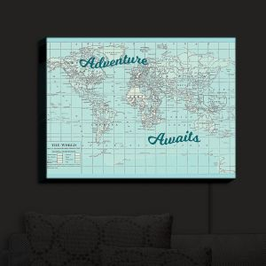Nightlight Sconce Canvas Light | Catherine Holcombe - Adventure Awaits