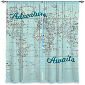 Decorative Window Treatments | Catherine Holcombe - Adventure Awaits | Map typography